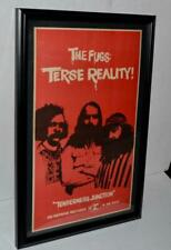 The Fugs 1968 Terse Reality Tenderness Junction Lp Promo Framed Poster / Ad