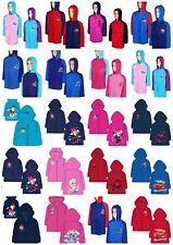 Boys Girls Kids Children Child Characters Raincoat Jacket Waterproof Hooded