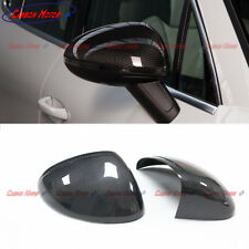 For 2014+ Porsche Macan Carbon Fiber Rear-view Mirror Cover Casing Stick on type