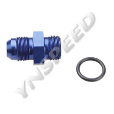 8AN AN-8 Male Flare To 8AN Straight Cut O-Ring Adapter Fitting Blue