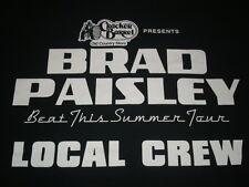 Brad Paisley Beat This Summer Tour Local Crew T-shirt Size XL