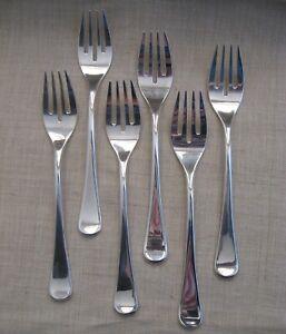 Set 6 forchette pesce Simil Silver Greggio stile moderno vintage
