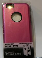 Wireless Gear iPHONE 6 6s Dual Layer Protection Case Pink