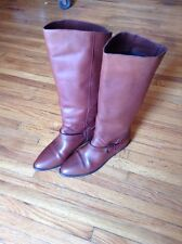 White Mountain Women 8.5 Brown Knee High Boot Genuine Leather Made in Chile