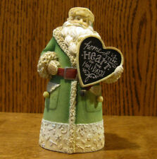 "The Heart of Christmas #4052762 SANTA ""HOME"" SIGN, by Karen Hahn, 5.12"" NEW/Box"