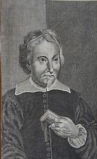 IANUS NICIUS ERYTHRAEUS, Portrait, gravure 17 ème. Dimensions : 80 mm X 150 mm.