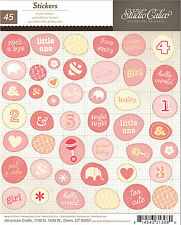 Studio Calico STORY TIME GIRL (45) WONKY CIRCLE STICKERS scrapbooking