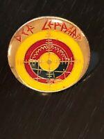 Collectible Vintage Def Leppard Band Hard Rock Colorful Metal Pinback Lapel Pin