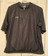 Under Armour HeatGear Mens Size Xl Golf Jacket Half Zip Short Sleeve Black