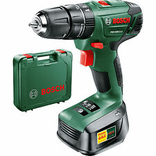 Bosch 18v Lithium-Ion Cordless Combi Drill, Battery Charger  &Case PSB 1800 LI-2