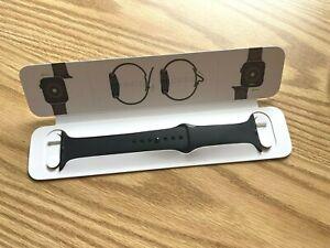Genuine Apple Watch Hermès 44mm 42mm M/L Black Sport Band BRAND NEW w Retail Kit