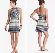 ATHLETA Printed 'Go Anywhere Dress' Style Halter Striped Print Dress Size 6