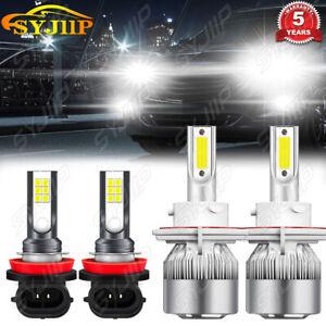 For Mini Cooper Countryman 2011-2016 4pc LED Headlight Kit Hi/Low Beam+Fog Light