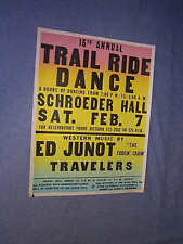 Original COLORCRAFT 1976 SCHROEDER HALL Trail Ride Dance ED JUNOT FIDDLIN CAJUN