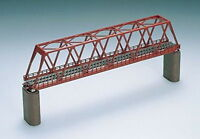 TOMIX N gauge solid wire truss-type Bridge F red brick piersx2 030317 Tomytec