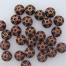 Antique Copper Alloy Metal Round Bead Caps 50 Pieces  8mm #0811