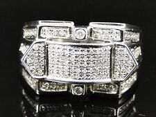 Fashion Band Pinky Ring 1 Ct Mens White Gold Finish Diamond Engagement Designer