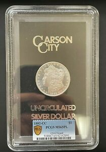 1882-CC Morgan Silver Dollar GSA Hoard PCGS MS-65PL, Beautiful Proof Like Coin
