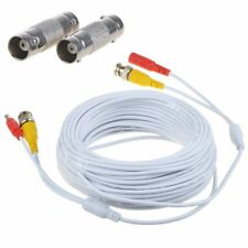 25ft Power Video Security Camera BNC Cable CCTV Wire Cord w/ Extension Connector
