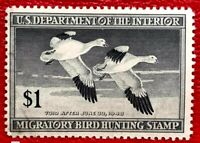 1947 US Federal Duck Stamps SC#RW14 Well Centered MNH/OG
