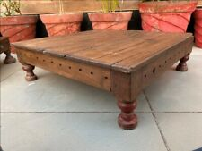 Coffee Tea Table Low Table Wooden Hand Carved 22 x 22 1800's Antique Table Bazot