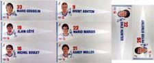 1980-81 Vintage Quebec Nordiques Pepsi-Cola/7UP NHL Player Pennants SET (8)