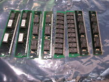 Lot of 8: Vintage 30-pin SIMM Memory RAM Various Samsung Toshiba NMBS - USED