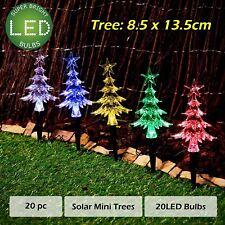 20pc Solar Christmas Lights LED Mini Path Trees Multi Colour 7 Flashing Effects