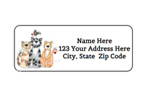 30 Cats Cat Personalized Return Address Labels 1 In X 2625 In