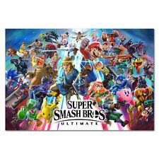 Super Smash Bros Ultimate Poster- Alternative Key Art - High Quality Prints
