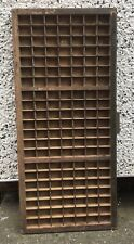 More details for vintage wooden letter press printer tray, 147 spaces