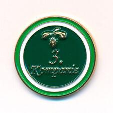 Schützenfest Hofstaat 3.Kompanie mit Eichenlaub Metall Button Pin Anstecker 0893