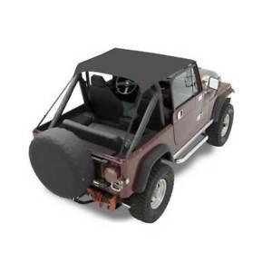 Bestop Traditional Bikini Top Black for Jeep CJ5/CJ6/Willys 1955-1975