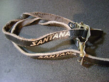 used pair Santana Cinelli faded leather toe straps Made in Italy from a tandem