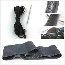 Steering Wheel 100% Genuine Leather DIY Black Handmade Cover for Citroen Peugeot