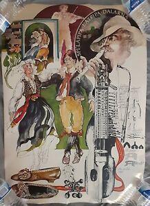 Sweden Swedish Folk Song Lars Lidman Scarce Poster 1974