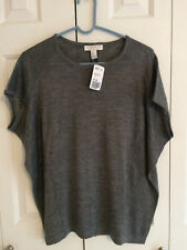 Forever 21 Essentials Women's Heather Gray Cap Sleeve Knit Sweater Top Small NWT