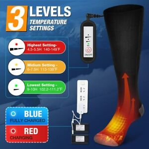 Electric Heated Socks Rechargeable Battery 5V Feet Winter Warm Skiing Hunting