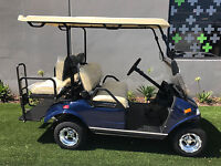 2018 Blue LSV Evolution EV Golf Cart Car Classic 4 Passenger seat street legal
