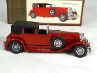 Matchbox Models Of Yesteryear Y4 1930 J Duesenberg Red 1978 Lesney