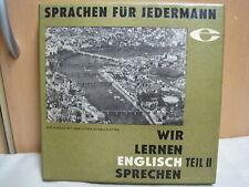Vinyl Litera,LP,Schallplatte,Wir lernen Englisch sprechen,Teil 2,Buch ,in Box