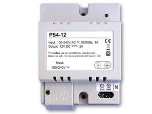Transformator Türöffner Versorgung  Trafo PS4 12V DC 2A 2000mA Türsprechanlagen