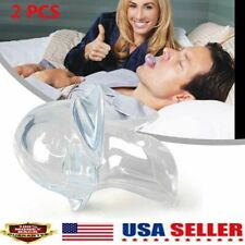 2X Anti Snoring Tongue Device Silicone Sleep Apnea Aid Stop Snore Stopper Sleeve