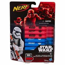 Nerf Darts Refill - Star Wars Force Awakens Official Pack of 18 Nerf Bullets NEW