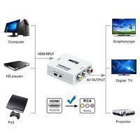 Mini 1080 P HDMI Composite zu RCA Audio Video AV CVBS Konverter Adapter FüKTP