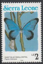 Sierra Leone 6804 - 1991 BUTTERFLIES 2L Country in blue P14 unmounted mint