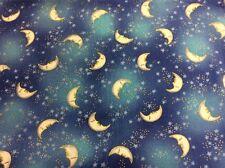 Laurel Burch - Celestial Dreams - Blue Metallic Y0632-30M 100% Cotton