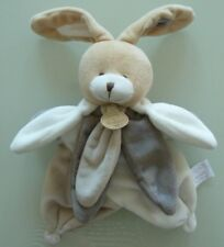 35- DOUDOU ET COMPAGNIE MARIONNETTE LAPIN COLLECTOR GRIS BLANC TAUPE BEIGE NEUF*