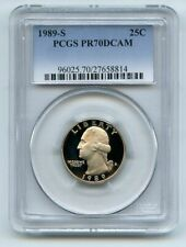 1989 S 25C Washington Quarter Proof PCGS PR70DCAM