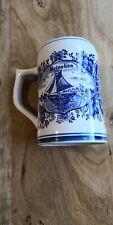 Vintage Heineken Beer Delft Blue Hand Painted Mug Stein Made In Holland